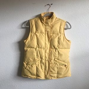 Talbots petite yellow down puffy vest small
